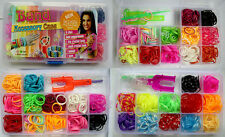 Mixed 12 colors Gift Puzzle Rainbow Rubber Looms Bands DIY Making Kit Bracelets