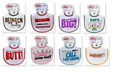 Just For Laughs Baby Boy & Baby Girl Funny / Humor Baby Talk Feeding Bibs 3500