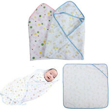 0-12M Small Baby Infant Cotton Swaddle Easy Wrap Swaddling Sleeping Bag Blanket