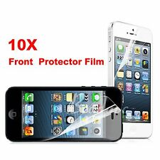 10x Transparent Front Screen Protector Glossy Film for Apple iPhone 4 4s 5 5s 5c