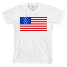 USA Flag AMERICAN APPAREL T Shirt Merica American Tee MADE IN USA NEW WITH TAGS