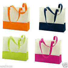 LIGHTWEIGHT LARGE LADIES BEACH BAG-TWO TONE SUMMER TOTE SHOPPING SHOPPER HANDBAG