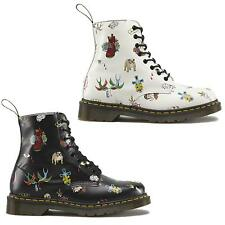 Dr Martens 1460 Pascal Tattoo 8 Eye Womens Leather Ankle Boots Sizes UK 4 - 8