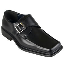 Boston Traveler Mens Square Toe Buckle Detail Loafers