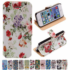 12Style Cheap Stylish PU Leather Flip Protector Case Cover For Apple iPhone 5/5S