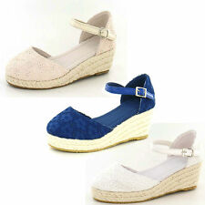 "SALE: GIRLS ESPADRILLE WEDGE SHOE ""F2181"""