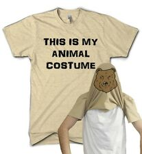 Animal Costume Flip T Shirt Bear Fancy Dress Party Gift Funny Present Comedy