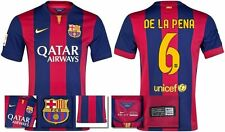 *14 / 15 - NIKE ; BARCELONA HOME SHIRT SS / DE LA PENA 6 = KIDS & JUNIOR SIZE*