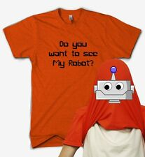 Do You Want To See My Robot Flip T Shirt IT Nerd Geek Present Funny Gift Comedy