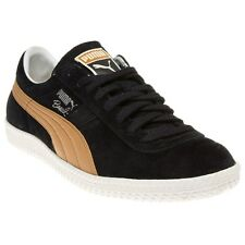 New Mens Puma Black Brasil Football Vintage Suede Trainers Retro Lace Up