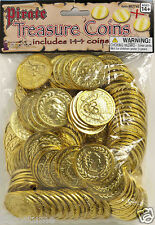 Bag of Gold Coins 144 Pieces Pirate Treasure Booty 67746