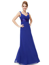 Long Chiffon Bridesmaid Formal Gown Ball Party Cocktail Evening Prom Dress BNWT