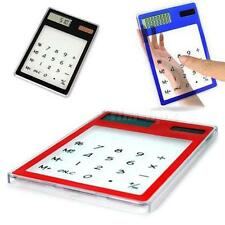 New Solar Touch Screen LCD 8 Digit Electronic Transparent Calculator SHPM