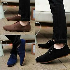 British Men's Driving Shoes Casual Lace Slip On Loafer Shoes Moccasins 5 Colors