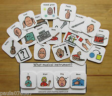 Music & Play communication cards~Now next and later~Pecs~Autism~ASD~SEN~Schools