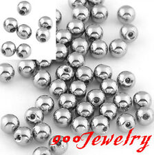 100x Silvery Steel Ball Navel Earring Nose Tongue Eyebrow Ring Finding Accessory