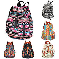 Women's Vintage Cute Canvas Travel Backpack Satchel Shoulder Schoolbag Rucksack