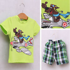 2pcs Kids Baby Boy Infant T-shirt Top+Short pants Outfit set Clothes 2-7 Years