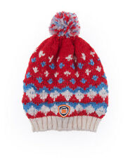 New Womens Superdry Apres Bobble Hat Poppy Red