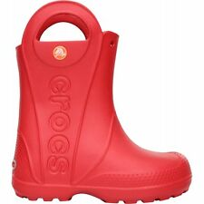 Crocs Kids Handle it Rain Boot Red, Easy on wellington