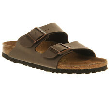 Womens Birkenstock Arizona Two Strap MOCHA BIRKO FLOR Sandals