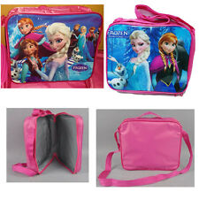Girl Kids Disney Frozen Elsa Anna School Insulated Lunch Bag Tote Cross-body Bag