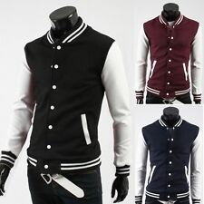 LA Location Fashion Mens Casual College Baseball Jackets Coats Tops Tee S M L XL