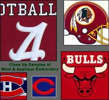 "Choose Your NCAA Team 40"" Large Embroidered Applique Wool Classic Pennant Flag"
