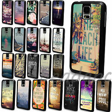 New Various Scenery Paint Pattern Skin Cover Case For Samsung Galaxy S4 S5 i9600