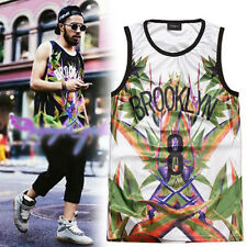 2014 New Stars Letters Numbers Double Gridding Breathable Sports Sleeveless Vest