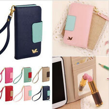 Wallet Card Holder PU Leather Flip Case Cover for Galaxy S3 I9300 S4 I9500
