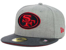 Official San Francisco 49ers New Era 59FIFTY Hat NFL Heather 2 Tone