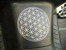 Flower Of Life Vinyl Stickers, Silver, Gold, Blue, White etc