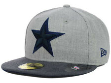 Official Dallas Cowboys New Era 59FIFTY Fitted Hat NFL Heather 2 Tone
