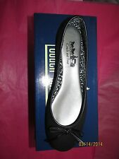 NIB COACH AND FOUR BLACK CANVAS CARMEN BALLET FLATS *MUST SEE*