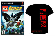 NEW LEGO BATMAN THE VIDEO GAME + FREE MOVIE COMIC SHIRT Playstation 2 PS2 or PC