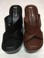 "New Women soft and lightweight Comfort Platform Wedge slide sandal Shoes 4"" Heel"