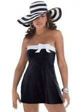 5973    PLUS SIZE 1 Pc Black/White Swimsuit Assorted Sizes Available