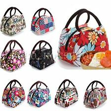 New Women Outdoor Canvas Lunch Casual Handbag Picnic Totes Carry Box Storage Bag