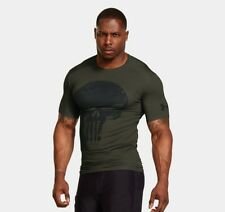 ** PUNISHER ** Under Armour Men's Alter Ego Compression Shirt All Sizes Green