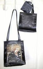 MARY KAY Black ON THE GO BAG Faux Leather PICTURE WINDOW PURSE