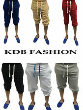 Mens Cotton Fleece Shorts Jogging Casual Home Wear 3/4 Boxing Martial Art Jogger