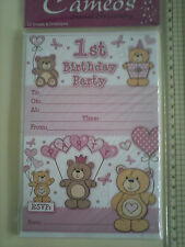 Party Invitation Packs 1st, 18th, 21st, 30th, 40th, 50th, 60th, 65th, 70th, 80th