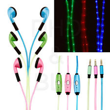 LED 3.5mm Earbud Earphone Headset For Mobile Phone iPhone MP3 MP4 Laptop Tablet