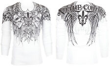 Xtreme Couture AFFLICTION Mens THERMAL T-Shirt GATHERER Tattoo Biker S-3XL $58