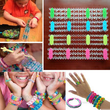 Board Tool For Rubber Band Twister Bracelet Making Craft Kits Clips Rainbow Loom