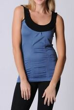 Bella B Wear ladies M - L rouched sleevless singlet top NWT