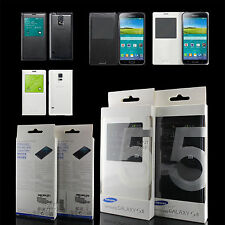 Genuine Official Samsung Galaxy S5 V S View Smart Battery Cover Flip Case