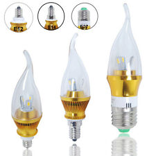 E12 E14 E27 LEDs SMD Candle Bulb Warm Pure White Light Chandelier Lamp Spotlight