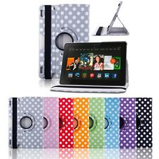 360 Rotating Case Cover w Stand For Amazon Kindle Fire HDX 7 & 8.9 HD & 8.9 HDX